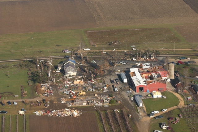 EF2 Tornado Damage at Edwards Apple Orchard