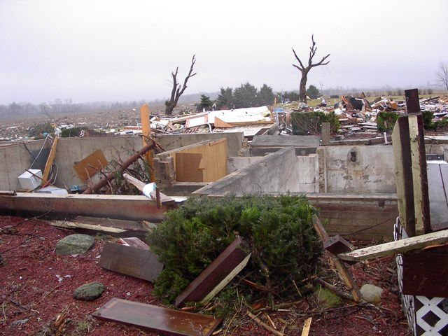 House destroyed by EF3 tornado.
