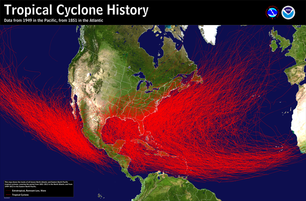 frequency of tropical cyclones in the