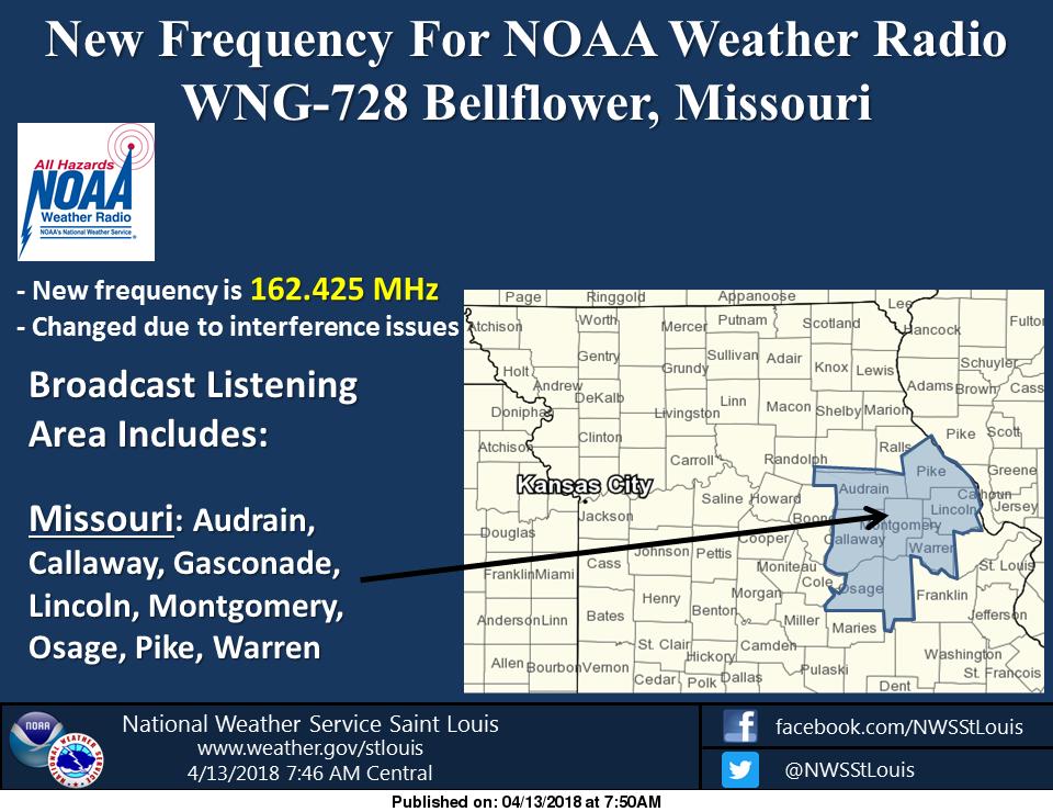 Bellflower Zip Code Map.New Frequency For Noaa Weather Radio In Bellflower Missouri