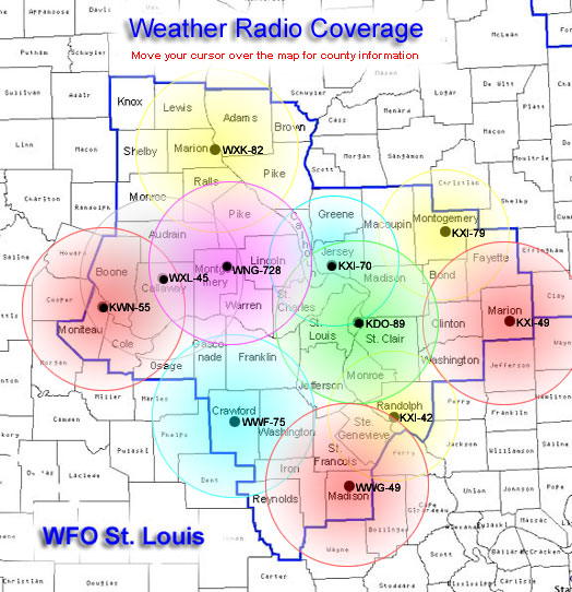 St Charles Zip Code Map.Nws St Louis Noaa Weather Radio Home Page