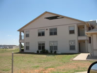Image of damage from wind and hail in Childress on 9 May 2005.
