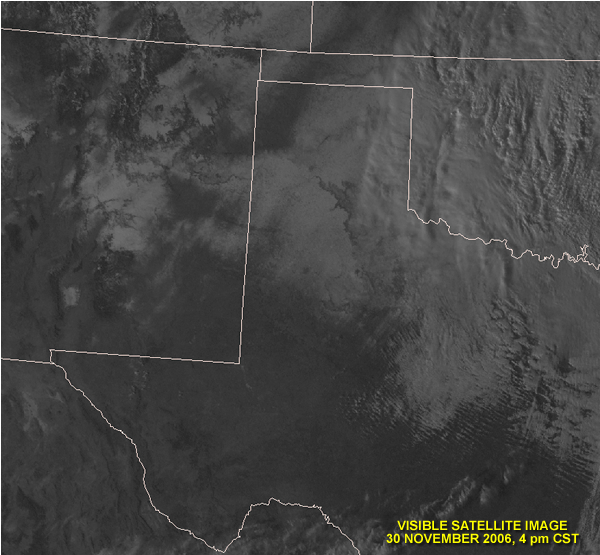 Visible satellite image taken around 4 pm on Thursday the 30th.