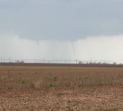 Picture of funnel clouds north of Olton.