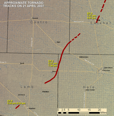 Click to view full-size tornado track map