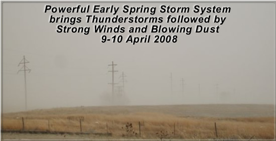 Photo of duststorm in Muleshoe on April 10th, 2008