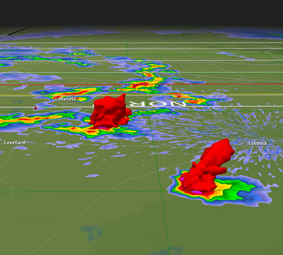 Radar image of thunderstorms on May 7th