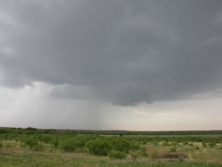 Picture of a storm near Roaring Springs on 27 May 2008. Photo was taken by Gary Skwira while looking north from the Afton area. Click on the image for a larger view.