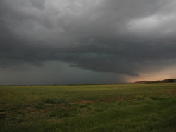 Picture of a storm near Crosbyton on 27 May 2008. Photo was taken by Gary Skwira looking westward from Highway 62 east of Crosbyton. Click on the image for a larger view.
