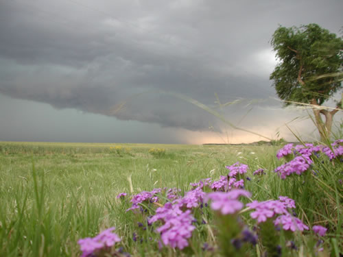Picture of a storm as it bears down on Dickens on 27 May 2008. Picture by Gary Skwira.