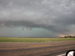 Picture of a storm as it approached Dickens on 27 May 2008. Photo was taken by Gary Skwira looking west-northwestward from just south of Dickens. Click on the image for a larger view.