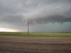 Picture of a storm as it approached Dickens on 27 May 2008. Photo was taken by Gary Skwira looking west-southwestward from just south of Dickens. Click on the image for a larger view.