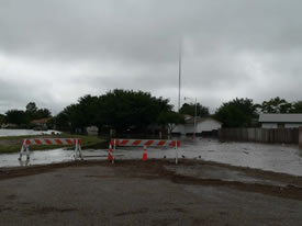 Image 4 of flooding across southwest Lubbock - click to enlarge