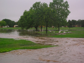 Image 6 of flooding across southwest Lubbock - click to enlarge