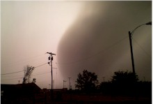 Image of a severe macroburst that impacted Childress - 15 June 2008