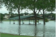 Flooding at Charles Guy Park in Lubbock - 12 September