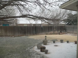 Picture of ice, sleet and snow accumulation from around Lubbock. Click on the image for a larger view.