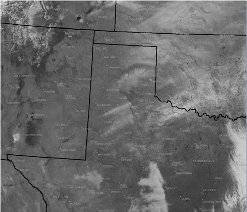 Visible satellite image taken after the winter weather on 28 January 2009.