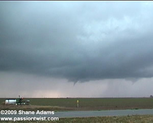Picture of two tornadoes near Idalou
