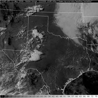 Visible satellite image Tuesday afternoon and evening (12 May 2009).