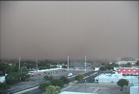 Picture of the Haboob as it approached the Science Spectrum on the southwest side of Lubbock on 18 June 2009. Click on the image for a larger view.