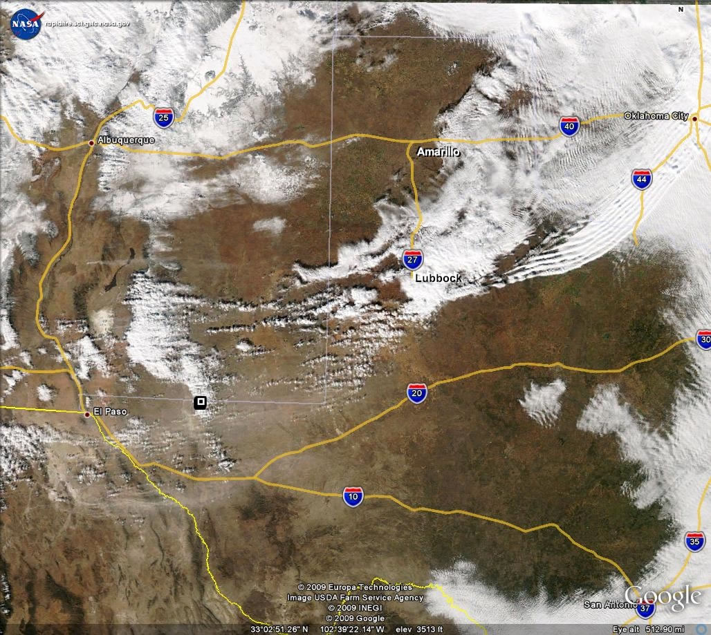 Texas Satellite Weather Map.Lubbock National Weather Service December 8 2009 Wind Event