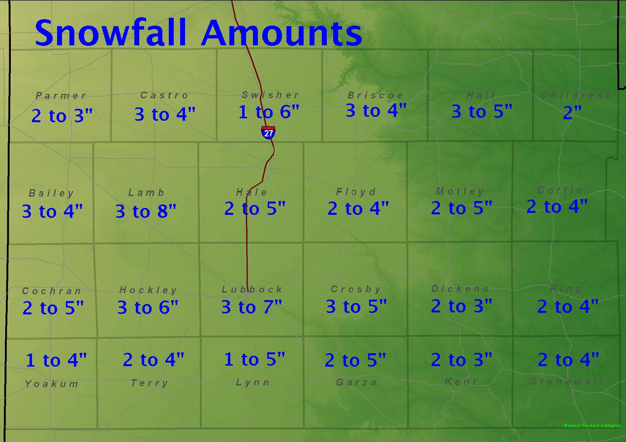 National Weather Service Lubbock Significant Weather Events Dec - Us snowfall map 2009