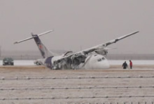 Plane crash at the Lubbock Airport - 27 January 2009