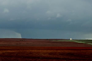 Picture of the tornadic storm near Cee Vee on April 22, 2010. The image is courtesy of Joseph Tyree.  Click on the picture for a larger view.