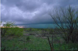 Picture of the tornadic storm on April 22, 2010. Image is courtesy of Ray Lowe.  Click on the picture for a larger view.