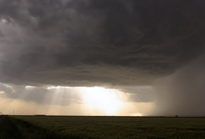 A picutre of the thunderstorm that tracked across parts of the south-central Texas Panhandle on the evening of 21 May 2010.  Click on the picture for a larger view. The image is courtesy of Mark Conder.