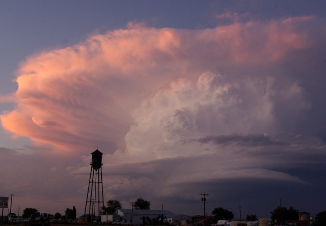 Picture of a thunderstorm east of Silverton, taken from South Plains on the evening of 21 May 2010.  The image is courtesy of Mark Conder.