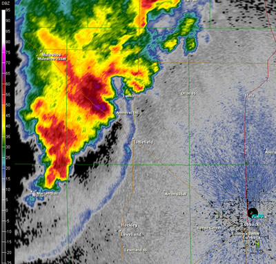 A reflectivity image from the WSR-88D Radar at Lubbock