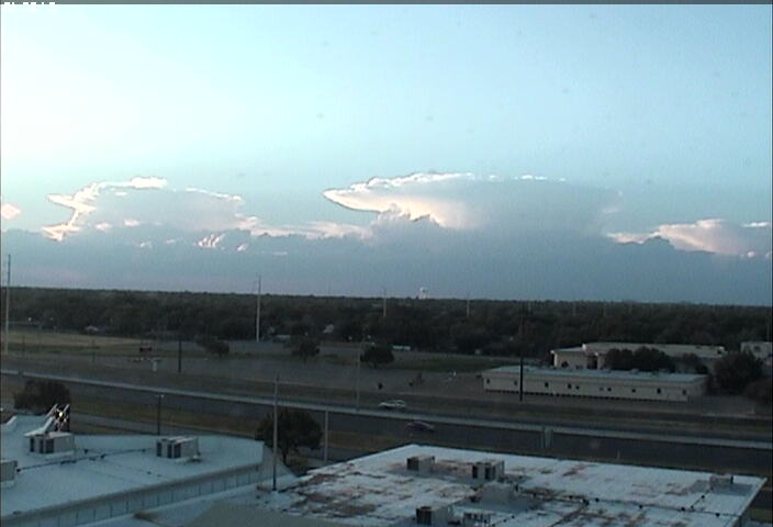 A couple of thunderheads to the northwest of Lubbock during the evening of August 13th, 2010.