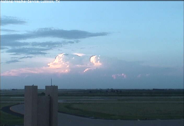 Thunderstorms well to the north of the Lubbock Airport during the evening of August 14th, 2010.