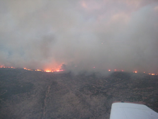A picture of the Swenson fire in Stonewall County taken on April 7, 2011.  Photo is courtesy of the Texas Forest Service. Click on the image for a bigger view.