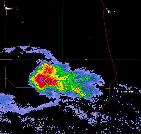 Radar imagery from the Lubbock WSR-88D showing the Olton Storm