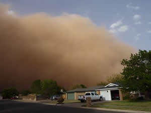 Picture captured of the haboob as it rolled south LubbockThe image is from Erin Shaw. Click on the picture for a larger view.