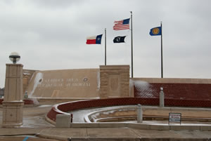 Picture of the Lubbock Area Veterans War Memorial taken on 5 December 2011. Click on the image for a larger view.