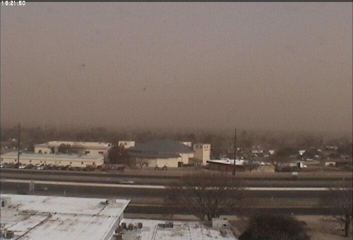 View from the Science Spectrum in south Lubbock shortly after 10 am on 22 January 2012. Widespread blowing dust was already in place.