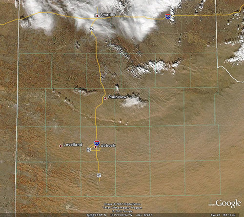 High-resolution MODIS satellite image captured around 2 pm on 22 January 2012. Click on the image for a larger view.