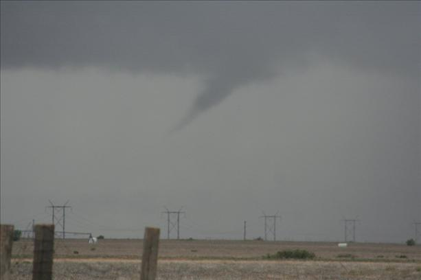 Picture of a funnel cloud captured northwest of Petersburg on 11 May 2012. The picture is courtesy of KCBD.