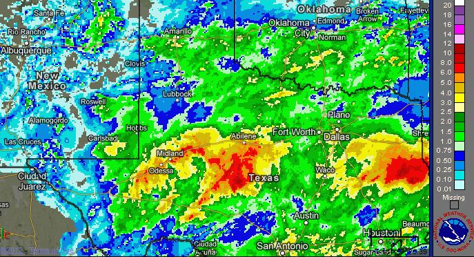 NWS Lubbock Weather Events Heavy Rain Late September - Us radar map weather