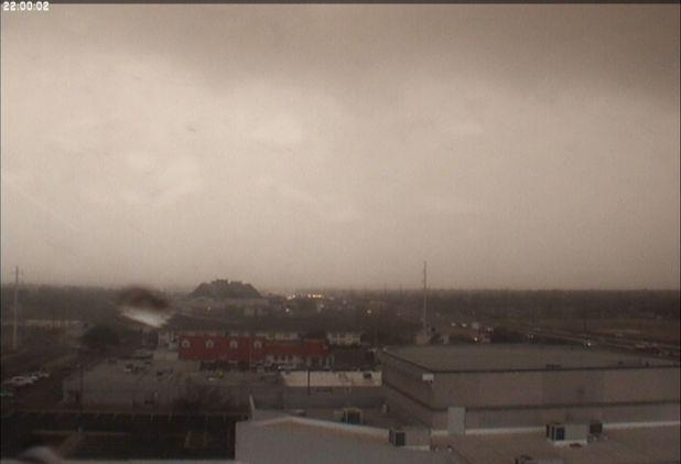Approaching storms with blowing dust as viewed from the NWS Lubbock office.