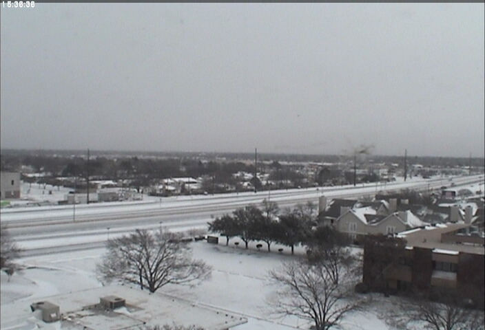 A view looking northeast from the NWS Lubbock webcam around 9:30 am Christmas morning.