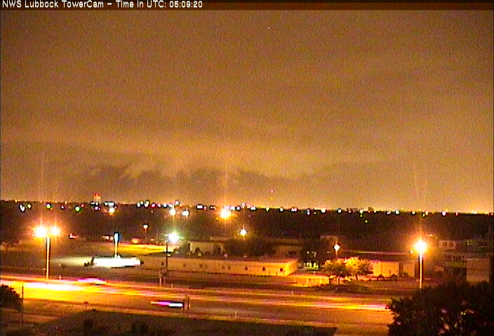 Picture of a storm rolling into Lubbock from the north at 12:09 am on Thursday (15 August 2013).