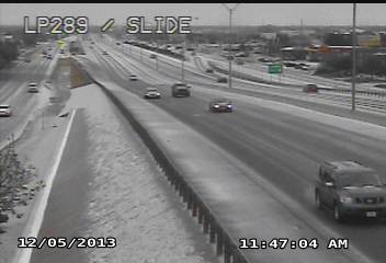 Picture from Lubbock on 5 December 2013. The sleet and ice created some travel problems. The picture is courtesy of TXDOT.