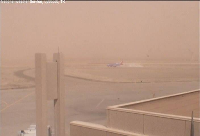 This is what it looked like at ground level in the early afternoon at the Lubbock International Airport on 18 March 2014