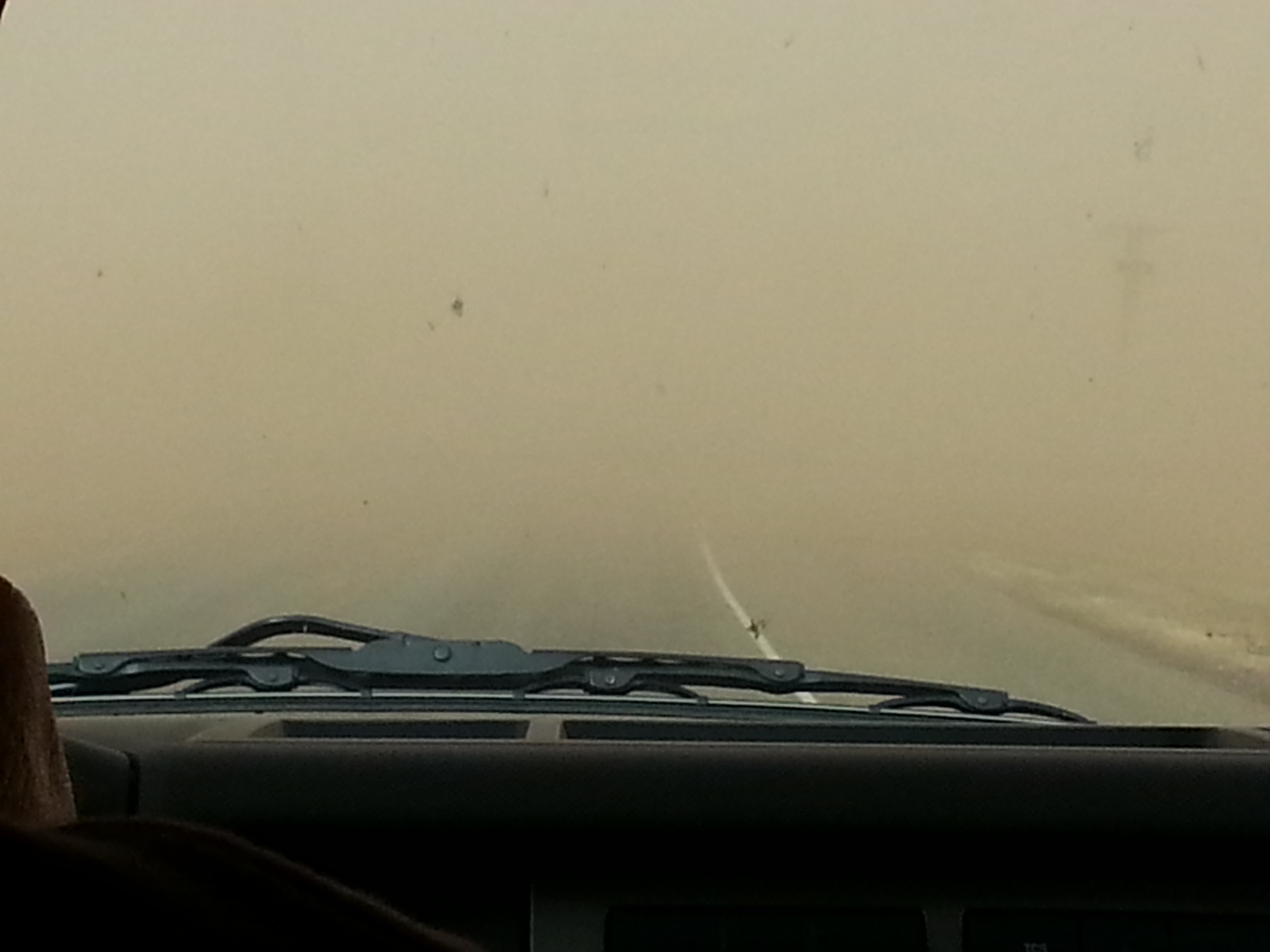 The strong winds and blowing dust made travel difficult in spots. Near zero visibility briefly on the west side of Ralls.