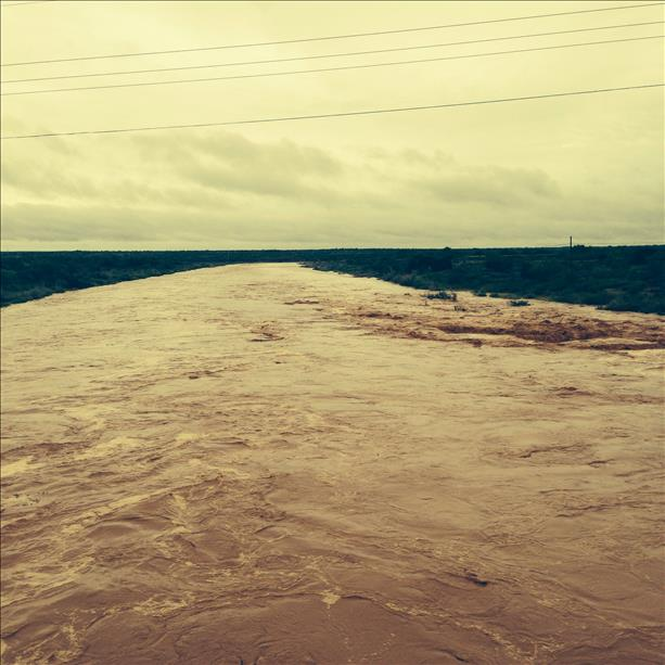 Flooding of the Double Mountain Fork of the Brazos River along Highway 84 on Saturday, September 20th. The image is courtesy of KCBD.